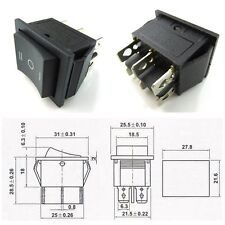 10 Pcs CESS? Hull Shape Snap-in KCD4 6 Pin ON-OFF-ON Switch