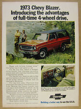 1973 Chevrolet Chevy BLAZER color photo vintage print Ad