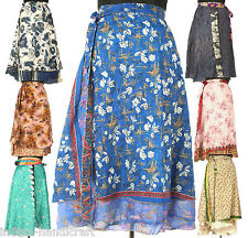 1000 Long Length Vintage Silk Sari Magic wrap skirts dress Wholesale India SW1