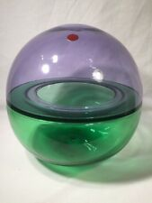 Large Vintage Round Formia Murano Coloured Glass Vase (ref W476)