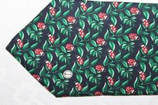 DUNHILL Made in Italy Green Leaves w/ Ladybugs 100% Silk Dress Tie