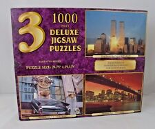 Sure-Lox 3 Puzzle Set New York City Skyline Hard Rock Cafe World Trade Center
