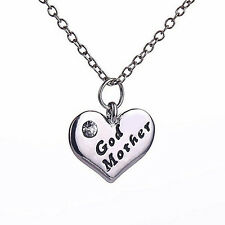 Newly Popular Heart Pendant Godmother Necklace Jewelry Mothers Day Mom Gift