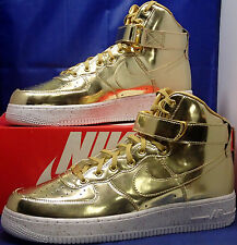 Nike Air Force 1 High Premium Liquid Gold iD SZ 10 ( 849064-991 )