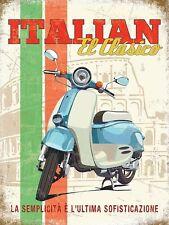 Italiano El Clasico Classico ciclomotore scooter Vespa Lambretta Medio Metallo/