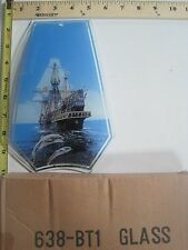 FREE US SHIP OK Touch Lamp Replacement Glass Panel Boat Ship Dolphins 638-BT1
