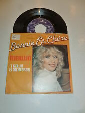 "BONNIE ST. CLAIRE - Merlijn - 1981 Dutch 7"" Juke Box Vinyl Single"