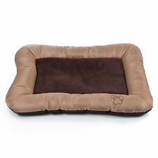 PAW Plush Cozy Pet Crate Dog Pet Bed - Tan - Medium  24 x 19 Inches