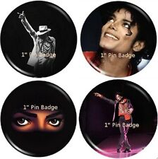 Michael Jackson - Pin Badge Set of 4 NEW