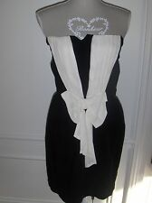 BELLE ROBE BUSTIER SANDRO 100%VISCOSE TAILLE 1