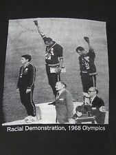 1968 OLYMPICS - RACIAL DEMONSTRATION RAISED FISTS - 3XL - BLACK T-SHIRT - E1141