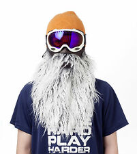 Gray Beard Half Neoprene Face Mask Ski Snowboard Motorcycle Biker Warm Funny
