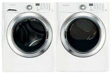 New Frigidiare White 3.9 cf Front Load Steam Washer & 7.0 cf Gas Steam Dryer