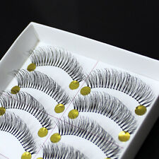 Fashion False Eyelashes Natural 10Pairs Transparent Stem Artificial Eye Lash Hot