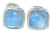 Moonstone Sterling SILVER Cufflinks Authentic Gemstone 925 Cuff Links Boxed Gift