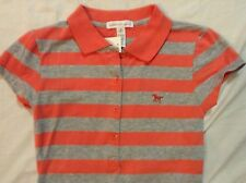NWT~WOMENS POLO STYLE SHIRT~SMALL~PINK & GRAY~AMBIANCE APPAREL~CHEAP!