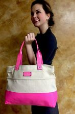 Kate Spade Horseshoe Cove Natural Pink Magazine Tote Bag Purse Handbag
