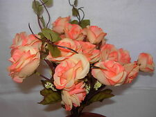 2 Sets High Quality  Artificial Plant Rose Flower Peach XY