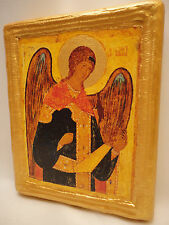 Saint Michael The Archangel Rare Eastern Orthodox Religious Icon on Real Wood