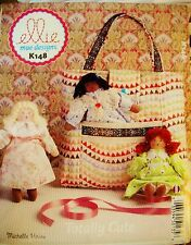 McCalls Ellie Mae Designs K148 Pattern UNCUT Tote Bag & Turn of Century Dolls