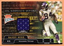 2004 Fleer Platinum RANDY MOSS SCOUTING REPORT JERSEY CARD SR-RM #61/250