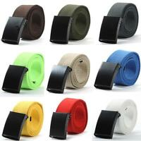 Men's Plain Solid Waist Belt Webbing Waistband Casual Canvas Belt Multi-color