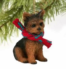 YORKIE YORKSHIRE TERRIER  DOG CHRISTMAS ORNAMENT HOLIDAY XMAS scarf gift