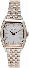 Bulova Women's Diamond 98R200 Silver Stainless-Steel Quartz Watch