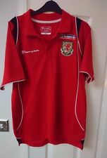 WALES Football Polo Shirt Men's Small Red Training Top Soccer Jersey CHAMPION S
