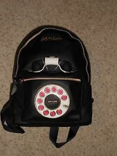 NEW Betsey Johnson Phone Backpack Telephone Works with Cell NWT BOOKBAG