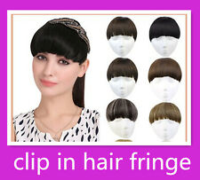NEW CLIP IN STRAIGHT HAIR FRINGE BANGS HAIR EXTENSIONS HAIR PIECES