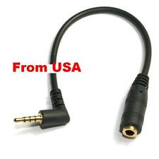 3Pcs TRRS Short 2ft Right Angle 3.5mm Male to 3.5mm Female Extention Audio Cable