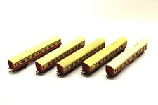 5 x Triang Red/Yellow Coaches Job Lot OO Gauge Rolling Stock Collectables E9