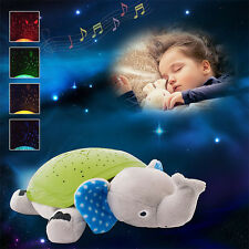 Kids Elephant Starlight Projector with Sound Toy Baby Room Soothing Night Light