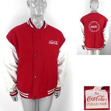 Vintage COCA COLA Bomber Jacket Varsity/Baseball 80's (Mens L Large) Retro 90s