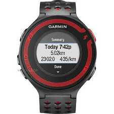 Garmin forerunner 220 écran couleur noir/rouge gps sports vitesse running watch
