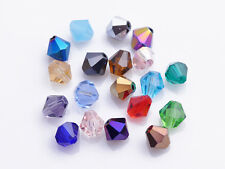 Wholesale Lot 3mm 4mm 6mm 8mm Faceted Bicone Crystal Glass Loose Spacer Beads