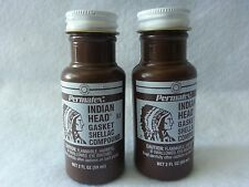 2pc PERMATEX INDIAN HEAD GASKET SHELLAC COMPOUND 2OZ Bottle 20539