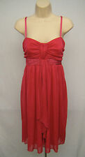 LA BELLE Size M Pink Red Dress Evening Homecoming Prom Cocktail Formal Gown