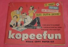 Vintage Kopeefun Magic Copy Paper Kit Toy 1962 Colorful Cartoons ART Embree Mfg