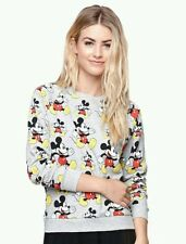 Disney MICKEY MOUSE Sweatshirt Pullover Crew Pacsun Womans Juniors SM $37 RET