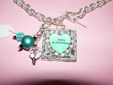 QUOTE NECKLACE QUEEN OF EVERYTHING HEART Link Chain NEW Gift Box Retail $52