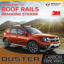 Carbon Fibre Roof Rail Decal set of 2 for Renault Duster