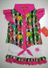 Apple Bottom Girls 2 Pc Set Shirt & Jean Skirt Outfit Size 2T