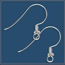 24 Sterling Silver 925 BALI BEADS Earring Ear Wire Hook