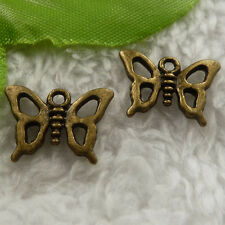 free ship 400 pieces bronze plated butterfly charms 16x12mm #4117