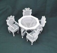 "Garden Table & Chairs Set  dollhouse miniature furniture 1/12"" scale AL007"
