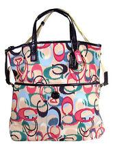 NWT Coach  Signature IKAT Print Foldover Tote Handbag MSRP $328