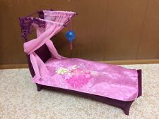 Barbie Doll Canopy Bed Bedroom Gift Set Fashion Fever My Home Furniture W Lamp