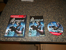 Resident Evil 4  (Sony PlayStation 2, 2005) COMPLETE TESTED PS2 RE ZOMBIES